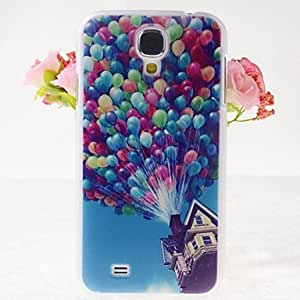 ZX Balloons Wood House Pattern Embossment Back Case for Samsung Galaxy S4 I9500