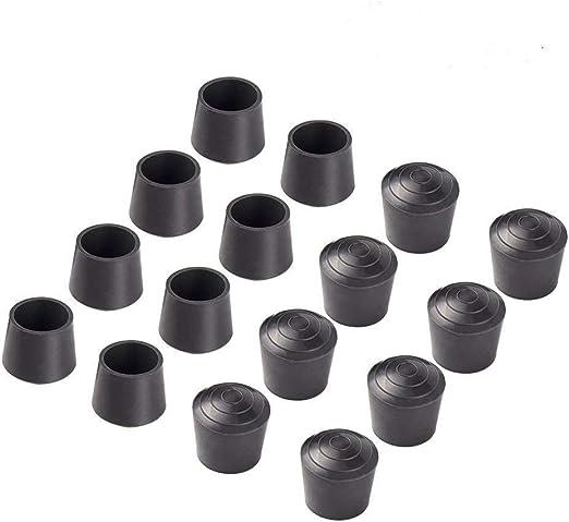 Black Shepherd Hardware 8766E Leg Tips 1-1//2 inch Inside Diameter Rubber Chair Leg Tips 12 Pack