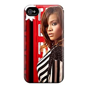 Durable Case For The Iphone 4/4s- Eco-friendly Retail Packaging(rihanna 44)