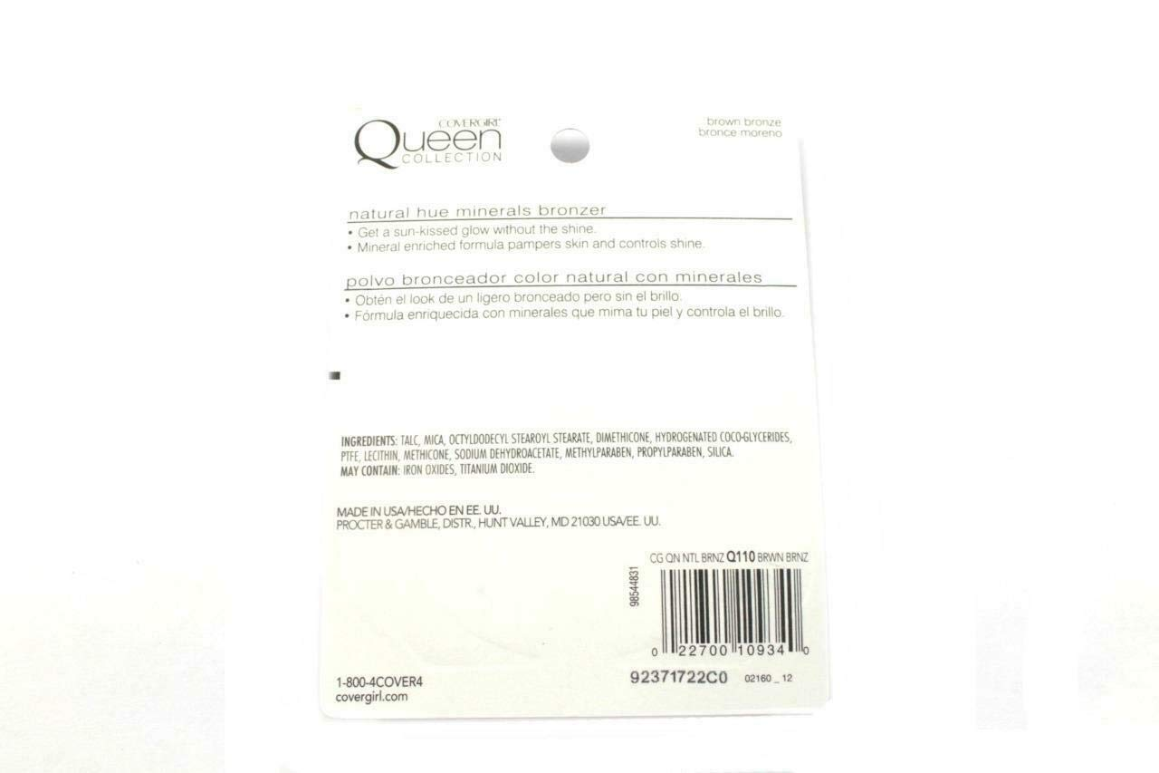 Pack of 2 Covergirl Queen Collection Natural Hue Q110 Brown Bronze By Amoldar