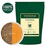 VAHDAM, Tulsi Basil Green Tea Loose Leaf (50 Cups) | Holy Basil Tea | Blend Of Pure Green Tea Leaves & Fresh Basil Leaves | Tulsi Tea | POWERFUL ANTI-OXIDANTS | Brew as Hot Tea or Iced Tea | 3.53oz