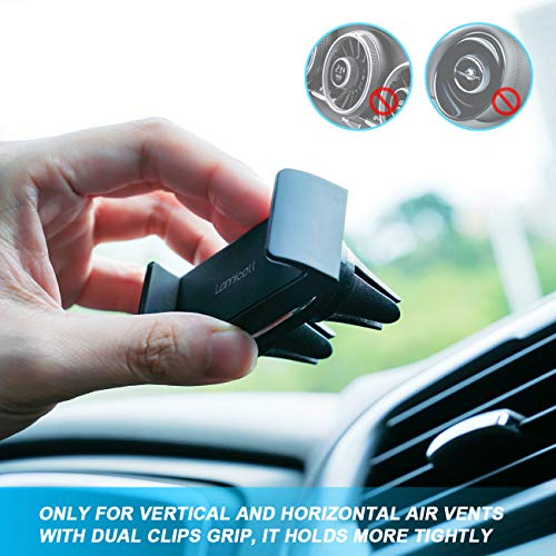 Car Phone Mount, Lamicall Car Vent Holder : Universal Stand Cradle Holder Compatible with Phone Xs Max XR 8 X 8P 7 7P 6S 6P 6, Samsung Galaxy S5 S6 S8 S9 S8+ S9+, Google, LG, Huawei, Other Smartphone by Lamicall (Image #5)