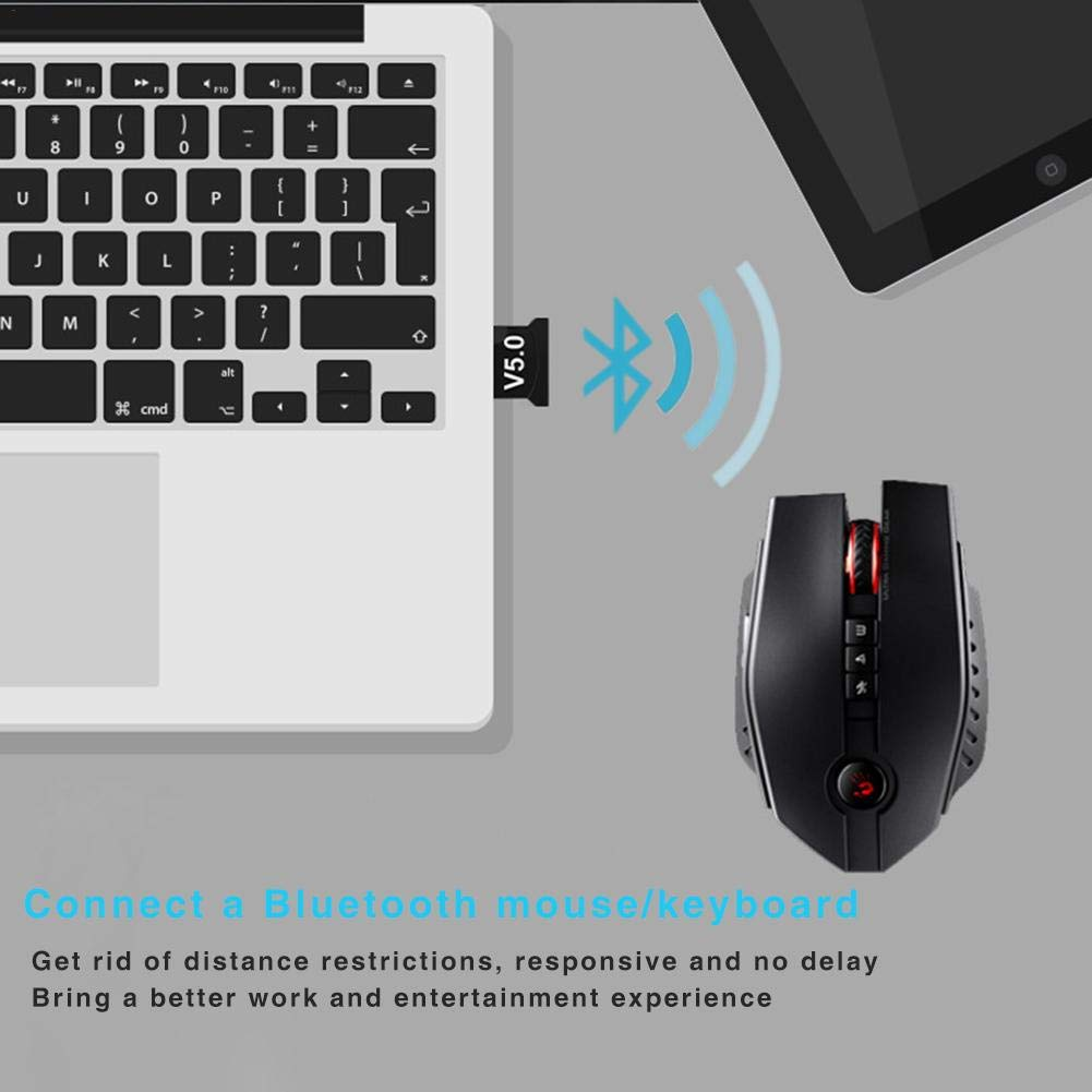 WXGY Bluetooth Adapter 5.0 USB Desktop Computer Freier Antrieb Bluetooth Dongle Musik Audio Empf/änger Sender USB Schnittstelle Universal
