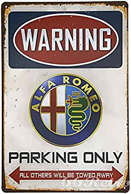 Amazon.com: 66retro Alfa Romeo Parking Only, diseño retro de ...