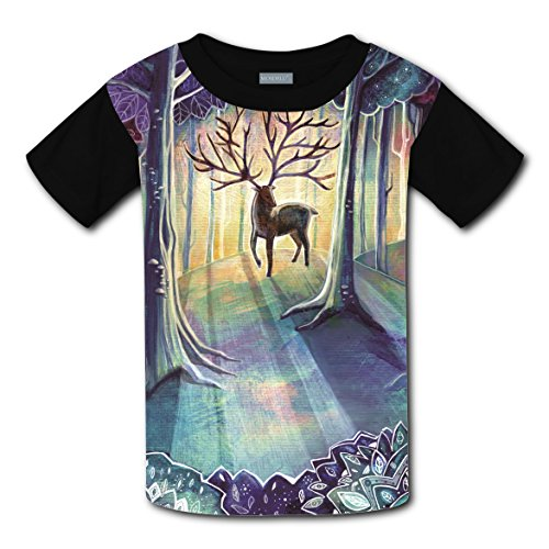 Crew Neck New Awesome Shirt 3D Custome With Elk For Unisex Kids M