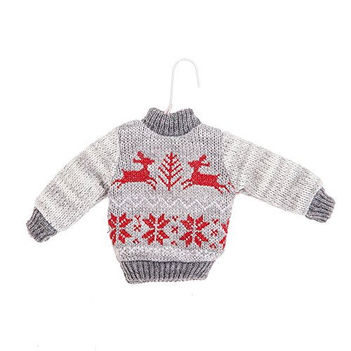 Grey Ugly Christmas Sweater Ornament