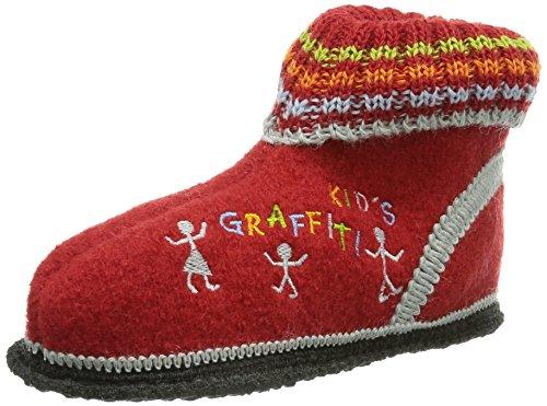 Kitz - Pichler Graffiti - Zapatillas de estar por casa de lana para niño Rubin 2707