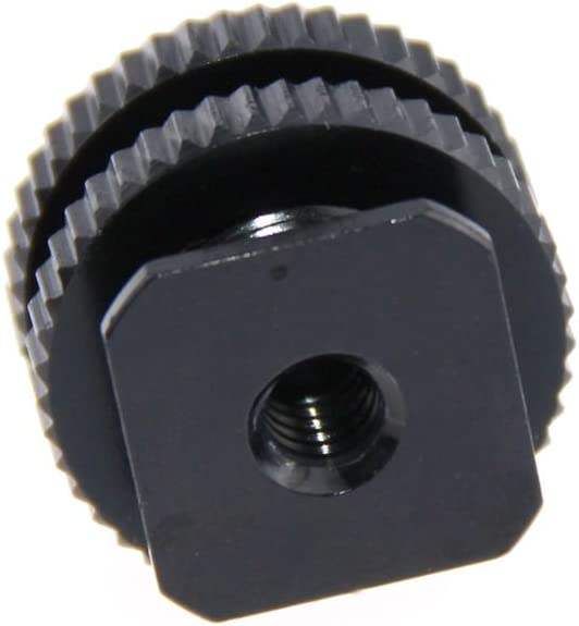 CAMVATE 5//8-27 Male Threaded Cold Shoe Adapter to Hot Shoe for Microphone Mic Mount