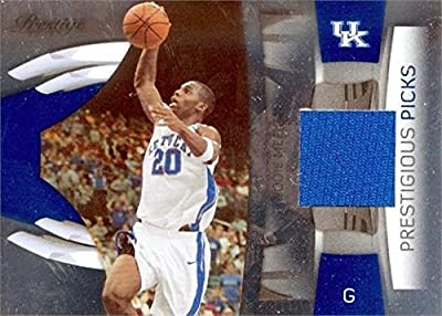 Jodie Meeks player worn jersey patch basketball card (Kentucky Wildcats) 2009 Panini Prestige Picks #49