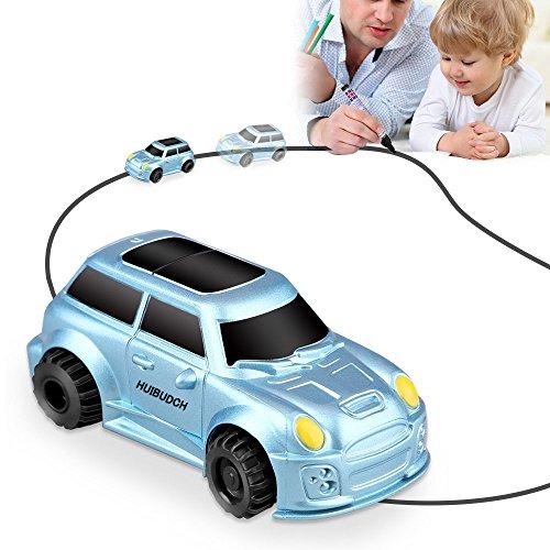 HUIBUDCH Magic Inductive Truck Toy Cars Magic Mini Car Childrens Birthday Toy Gift [Follows Black Line] for Kids (Blue)