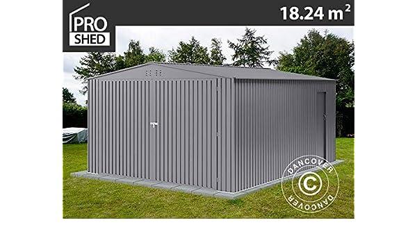Dancover Garaje metálico 3, 8x4, 8x2, 32m ProShed®, Aluminio Gris: Amazon.es: Jardín
