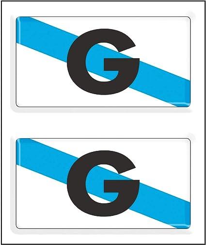 Amazon.es: Artimagen Pegatina Bandera Rectangular Galicia 2 uds. Resina