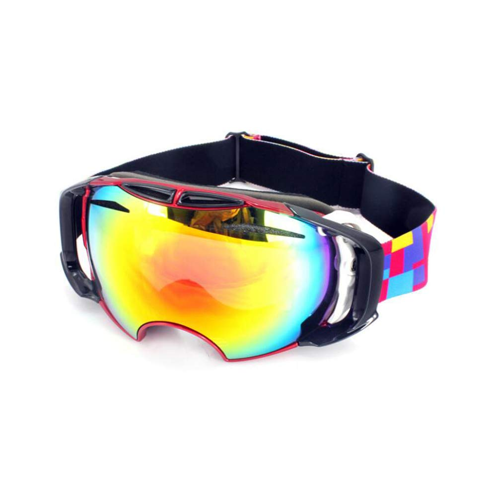 He-yanjing Ski Goggles, Snowboarding Goggle Anti-Fog UV Protection, Ski Goggles for Men and Women, Winter Adult ski Equipment (Color : Red) by He-yanjing