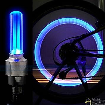 StickersLab-Tapón de Válvula Para Rueda LED Azul con Pilas Universal de Bicicleta Para Coche Moto: Amazon.es: Coche y moto