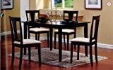 Cheap 5-Piece Dining Set in Black – Coaster