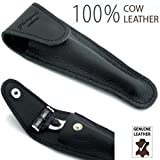Leather 100% Protective / Travel Case for Gillette Mach 3 and Fusion Shaving Razor, Shave razor