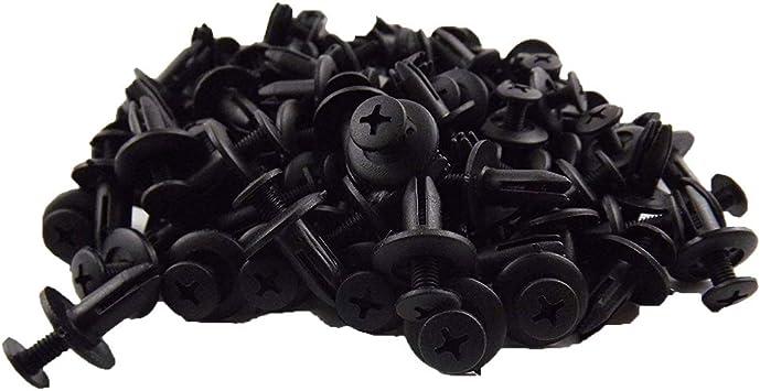 pack of 5 9mm 13mm L 9mm Dia Nylon Expanding Push In Rivet Black