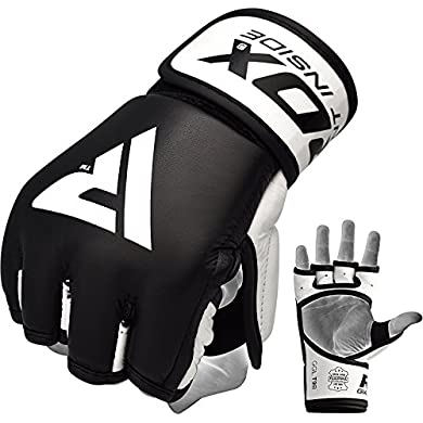 RDX-MMA-Gloves-Sparring-Martial-Arts-Grappling-Cowhide-Leather-Training-UFC-Cage-Fighting-Combat-Punching-Bag-Gel-Mitts