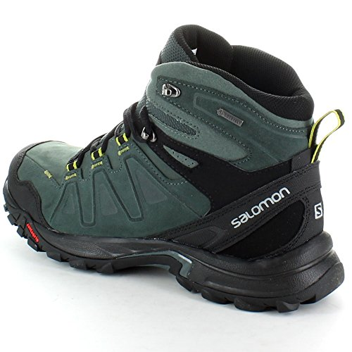 Salomon Mens Eskape GTX Goretex Leather Waterproof Hiking Boots Black Black TT