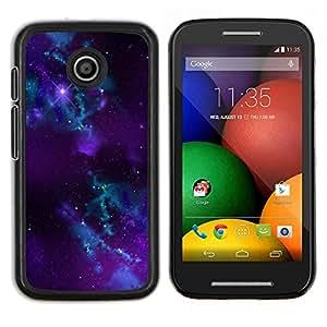 Caucho caso de Shell duro de la cubierta de accesorios de protección BY RAYDREAMMM - Motorola Moto E - Purple Galaxy Espacio