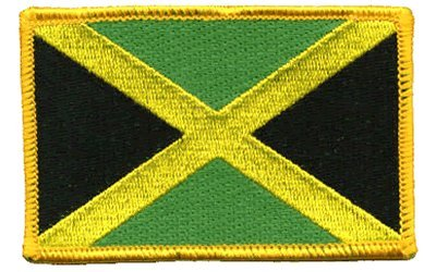 Jamaica iron-on embroidered patch (Jamaica Flag Patch)