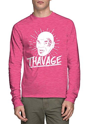 Long Sleeve Men's Thavage Shirt (Pink, Large)