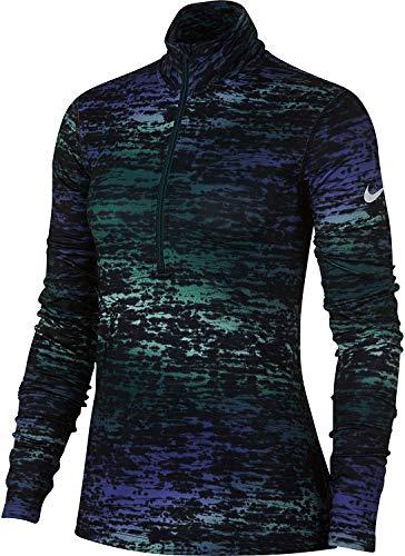 Nike Women's Pro Warm LS Ink Stripe Training Top-Atomic Teal-Medium