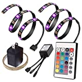 Bias Lighting for HDTV USB Powered, Home Theater Accent Lighting Kit With Remote Control, ETopLike 2 SMD5050 RGB Multi Color Light Strip for Flat Screen TV LCD, Desktop Monitors
