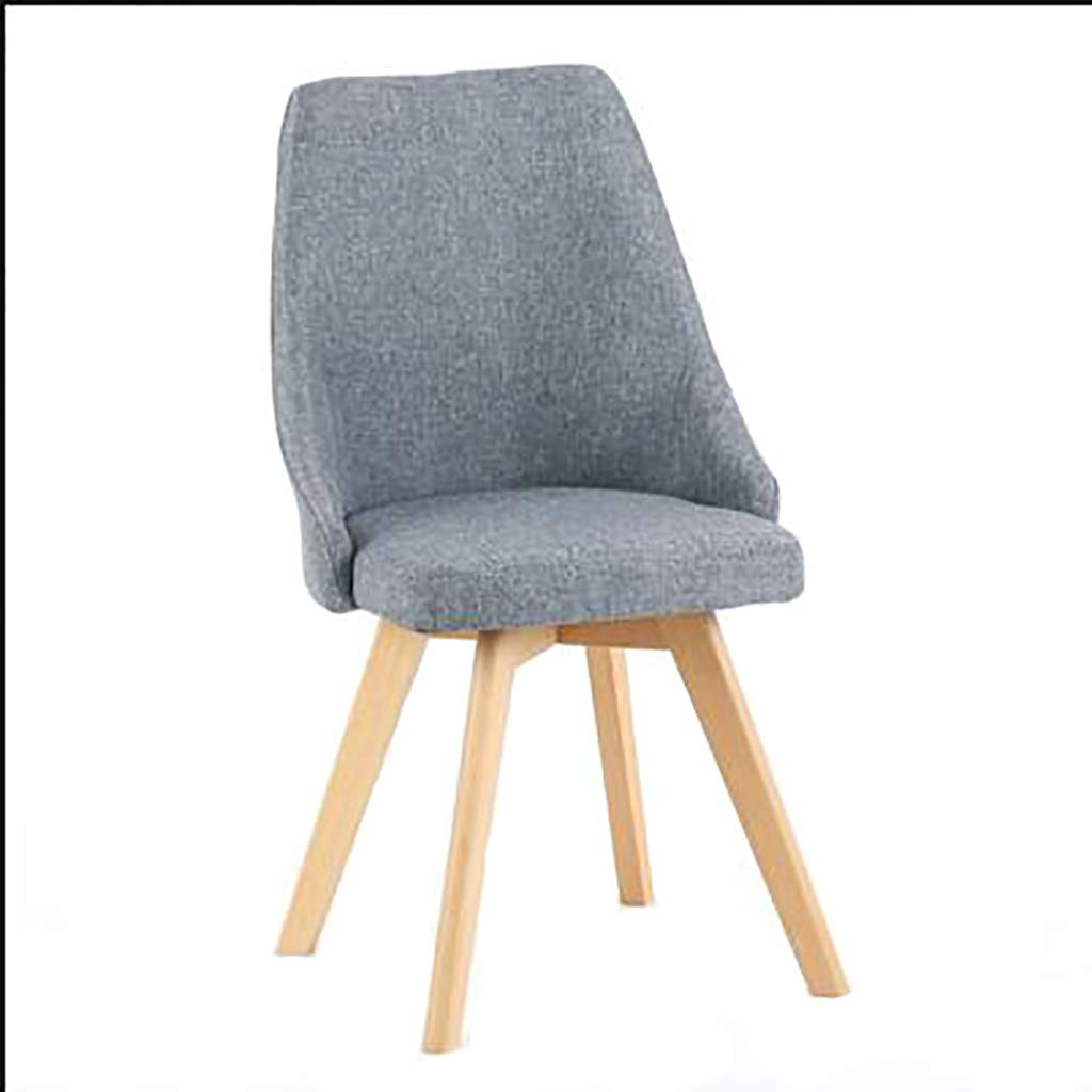 A Negotiate Office Leisure Solid Wood Dining Chair Back Chair Hotel Study Balcony Table and Chairs Home (color   D)