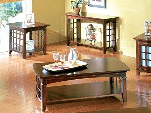 - Standard Furniture Glasgow Rectangle Cocktail Table, Dark Cherry Brown