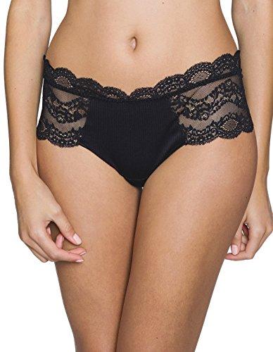 Maison Lejaby 17269-04 Women's Insaisissable Black Lace Knicker Shorties Sml