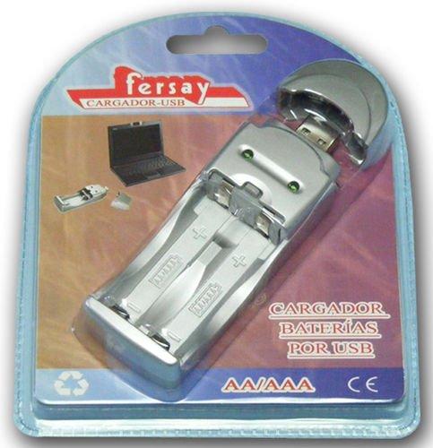 Cargador Pilas FERSAY FERSAY-Cargador-USB R3 Y R6: Amazon.es ...