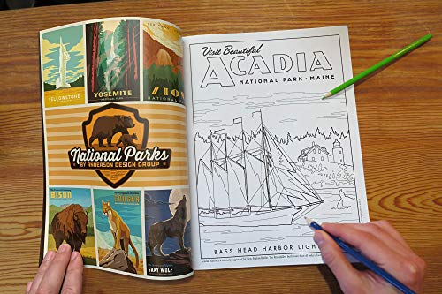 61 Illustrated National Parks Coloring Book [paperback] Anderson Design Group [July 01, 2019] - http://medicalbooks.filipinodoctors.org