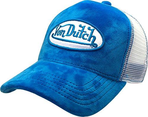 Von Dutch Trucker Hat with Logo Patch Baseball Hat (Blue Velvet VDHT234)