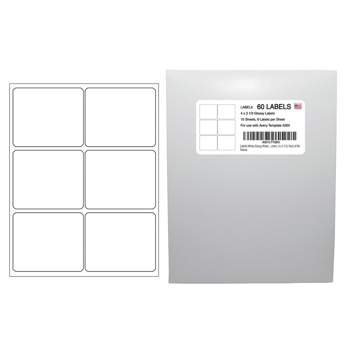 Amazon Labelit White Glossy Water Resistant Labels For Laser