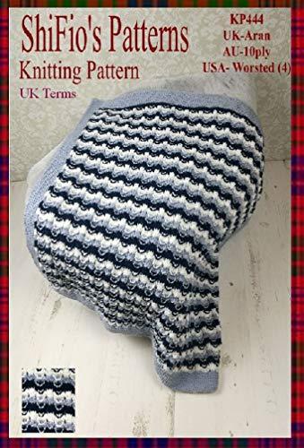 (Knitting Pattern - KP444- Baby Afghan Blanket - UK Terminology)
