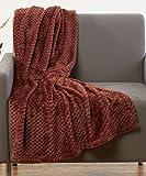"Luxurious Softness Extra Comfy Velvet Throw Blanket, 50""x60"" (Brown)"
