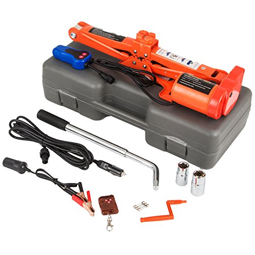 Mophorn 12V DC Electric Scissor Jack 3 Ton 6000LBS Automatic Electric Car Jack 120-450mm Remote Control Scissor Lift Jack (3T 6600LBS No Wrench) by Mophorn