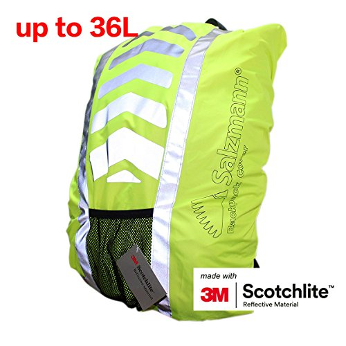 84c0258913c5 Salzmann High Visibility Reflective 3M Scotchlite Water-resistant Backpack  Rucksack Cover for Cycling or Running