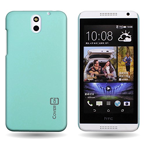CoverON Hard Rubberized Slim Case for HTC Desire 610 - with Cover Removal Pry Tool - Teal