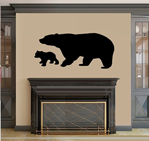 BEAR AND BABY CUB ~ WALL DECAL, HOME DECOR 20
