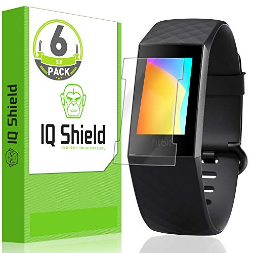 ([6-Pack] IQ Shield LiQuidSkin Clear Screen Protector for Fitbit Charge 3 [Compatible w/Charger][Version 2] Bubble Free Film)