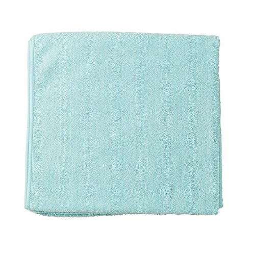 Price comparison product image Bucky Quick Drying Microfiber Plush Terry Cloth Spa Bath Towel for Bathroom, College Dorms, Pools, Gyms, Locker Rooms, Beaches (31x59) - Aqua
