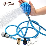 Pet Bathing Tool ,Pet Shower Sprayer and Scrubber for Dog Combines Bathe Shampoo Massage with 8ft Hose and 2 Hose Adapters Indoor and Outdoor Use