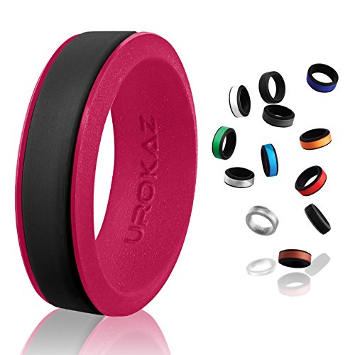 UROKAZ - Silicone Wedding Ring, The Only Ring That Fits Your Lifestyle - Whether You are Single or Married, Ring is Right for You - It is Fashionable, Flexible, and Comfortable ()