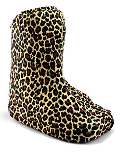 My Recovers Walking Boot Cover for Fracture Boot, Fashion Cover in Leopard, Sizes Extra Small to Large, Short Boot, Made in USA, Orthopedic Products Accessories (Medium)