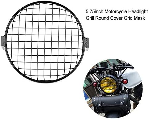 Motorrad Head Light Cover 5 75 Zoll Motorrad Netz Eisen Grill Abdeckung Front Scheinwerfer Grill Runde Abdeckung Gitter Maske Schwarz Auto