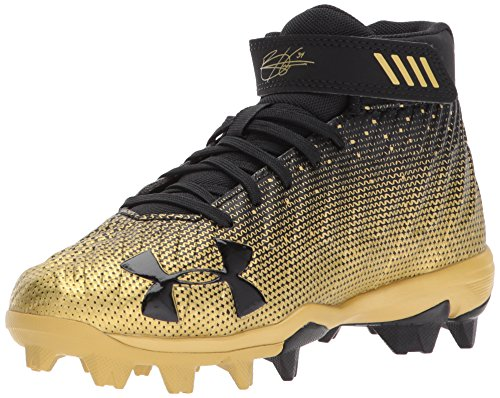 Under Armour Boys' Harper 2 RM Jr, Black (007)/Metallic Gold, 6