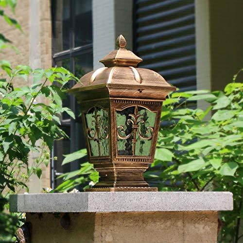 European Waterproof Pillar Light, Column Head Light/Door Column Light/Outdoor Wall Lamp, Villa Wall Door Lamp, Garden Lamp (Color : Bronze 1) by Outdoor lighting (Image #1)