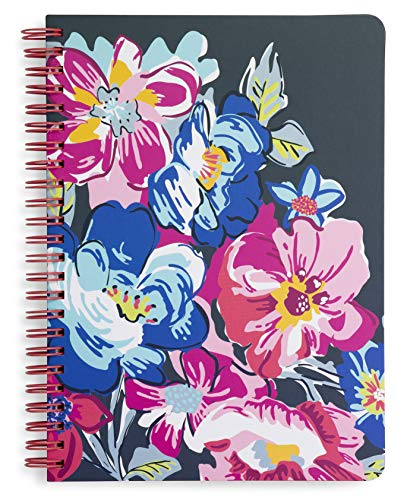 Vera Bradley Notebook - Vera Bradley Mini Spiral Notebook with Pocket and 160 Lined Pages, Pretty Posies